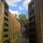 The Billet entering a deep lock