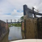 The Billet entering the first of the Caen Hill locks