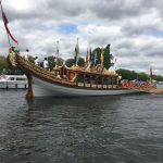 The Billet - watching The Queen's Jubilee boat Gloriana