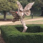 The Billet - view of sculpture at Oakley Court